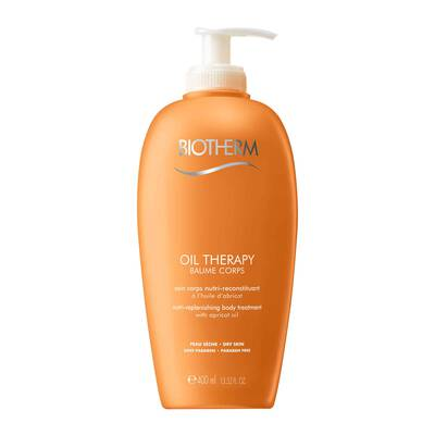 Help your dry skin regain its radiance with this emollient, quickly-absorbed body lotion. This exquisite formula includes a blend of 3 oils: corn, mineral, and apricot oil. Delivering a deep sense of comfort, Biotherms nurturing oil therapy care absorbs quickly, leaving your skin looking lustrous and feeling soft. The result: nurtured, incredibly soft skin youll feel wonderful in.