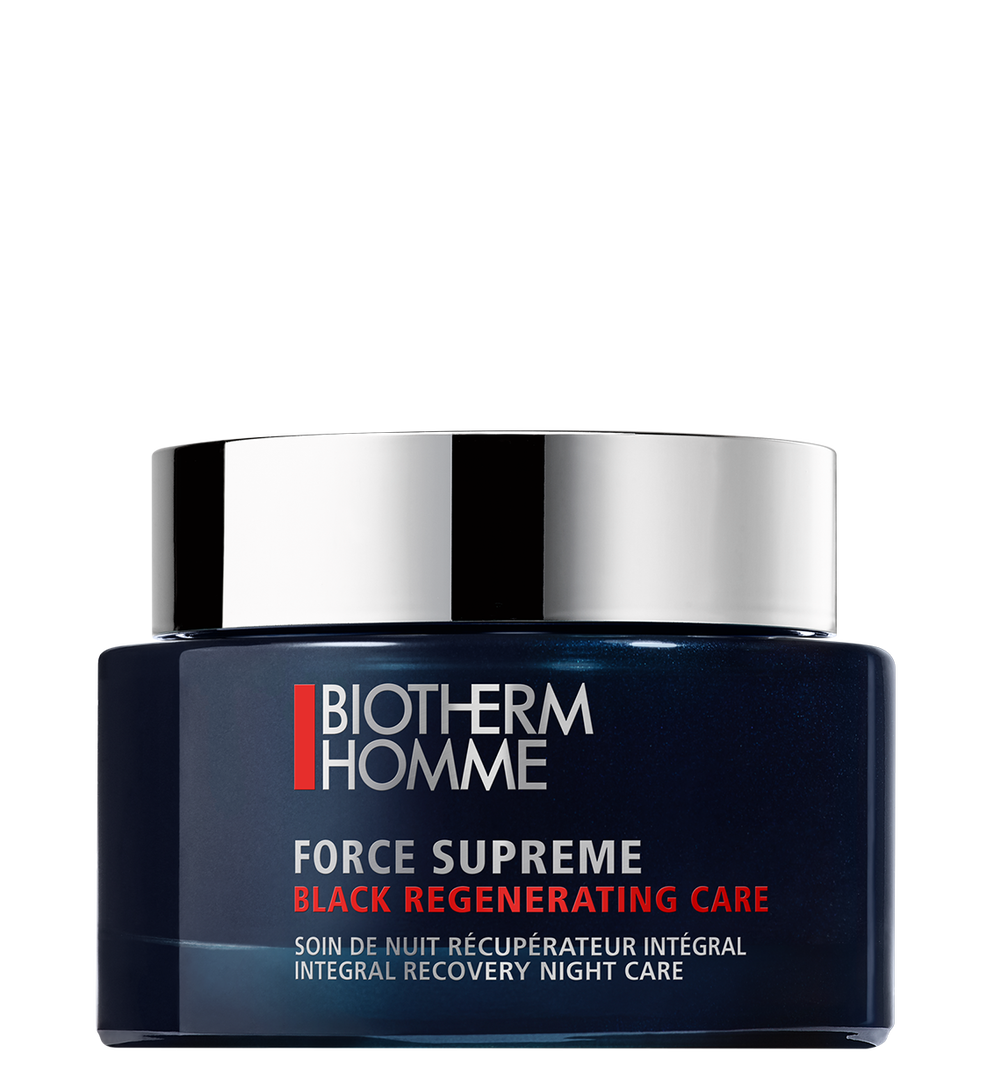 Force Supreme Black Regenerating Care 75 Ml Biotherm <p> The recharging power of dark activated algae extract in a black fusion transforming gelée%2C; to boost skin cells energy at night%2C; and maximize skin resilience when you wake up. </p>